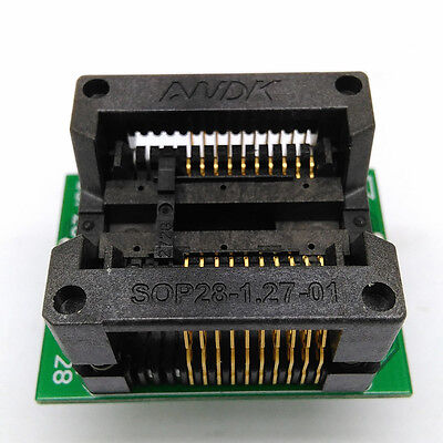 Sop20 Soic20 So20 Test Socket Adapter Pitch 1.27mm Ic Body Width 7.5mm 300mil