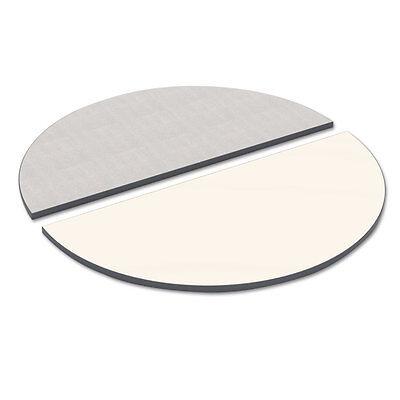 Alera Reversible Laminate Table Top Half Round 48w X 24d Whitegray Tthr48wg