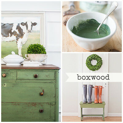 ( Miss Mustard Seed's Milk Paint - BOXWOOD Green - Furniture Painting DIY  )