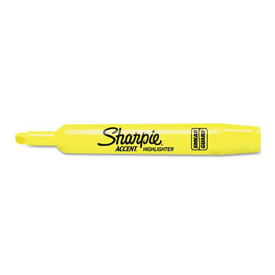 Sharpie Accent Tank Style Highlighter Chisel Tip Fluorescent Yellow 36box
