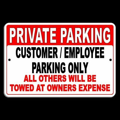 Private Parking Customers And Employees Only Others Towed Metal Sign Spk001