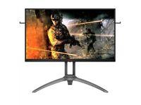 "AOC AG273QZ 27"" 2560x1440 TN 240Hz 0.5ms FreeSync HDR400 Widescreen LED Backlit Gaming Monitor"