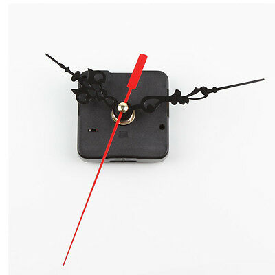 Chic Black Quartz Clock Movement Mechanism Repair DIY Tool Kit + Red Hand