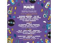 3 tickets for Made Festival
