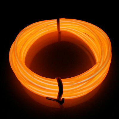 LED Orange 3M Neon- EL Wire Lightup Kostüm Party Garten Küche Zimmer Geschenk DE