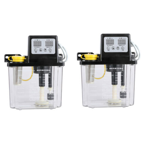 2 Pack 2L Dual Digital Display Automatic Electric Lubrication Pump Oiler NC Pump