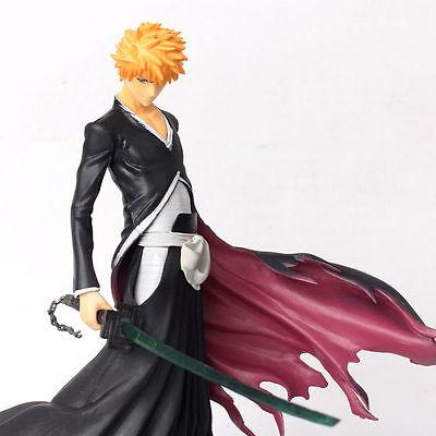 "Japanese Anime Bleach Kurosaki Ichigo PVC 8"" Statue Figure Bankai Zangetsu NEW"
