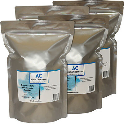20 Pounds - Copper Sulfate Pentahydrate Powder - 99 Pure