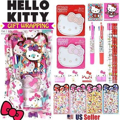 [GIFT WRAP] Sanrio Hello Kitty Gift Wrapped School Supplies Gift Set (8pcs) (Hello Kitty Gift Wrap)