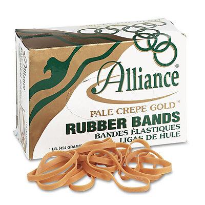 Alliance Pale Crepe Gold Rubber Bands Size 64 3-12 X 14 1lb Box All20645