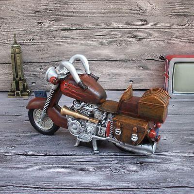 Creative Crafts Retro Motorcycle Piggy Bank Money Box Home Decor Motorcycle Money Banks