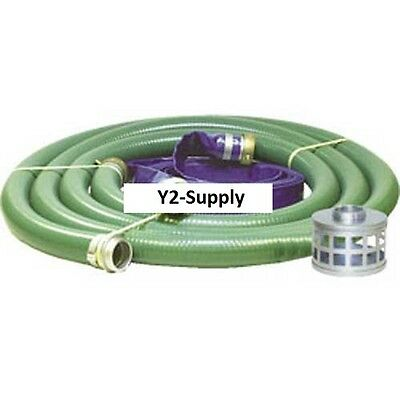 New 4 Trash Pump Hose Kits W Aluminum Couplings And Fittings