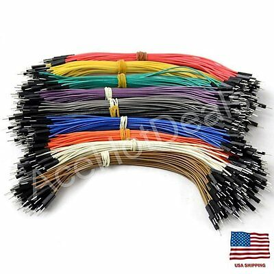 40pcs 20cm Male to Male Pin Header Dupont Wire Color Jumper Cable For Arduino