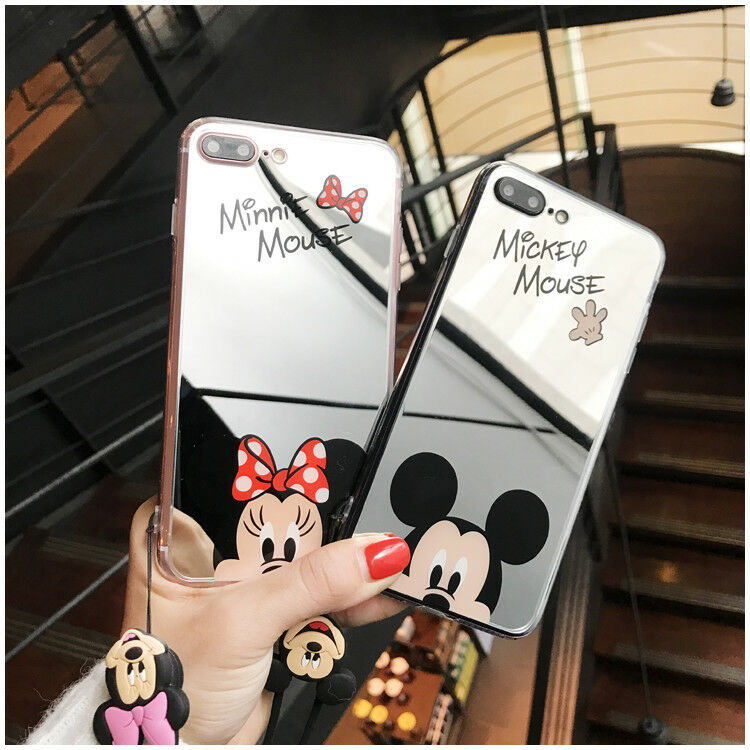 Mirror cartoon Case for iPhone X 6 6S 7 8 Plus 5 SE Cell Pho