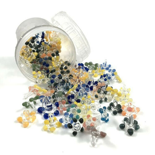 200 Daisy Style Glass Pipe Screens In Reusable Container{Lot of 200} USA SELLER