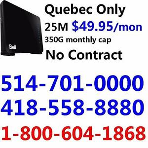 FREE Modem 25M internet for only $49.95/month, 350G Cap, No contract