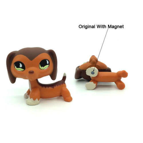 littlest Pet Shop LPS #2046 Cute Brown Dachshund Puppy Dog Loose Toy