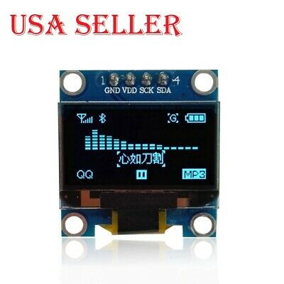 2pcs 0.96 Iic Serial 128x64 Blue Oled Lcd Led Display Module For Arduino