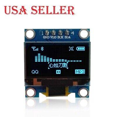2pcs 0.96 Iic Serial 128x64 Blue Oled Lcd Led Display Module For Arduino