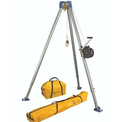 Falltech 7505s Confined Space Tripod Kit W60 Personnel Winch Stainless Steel