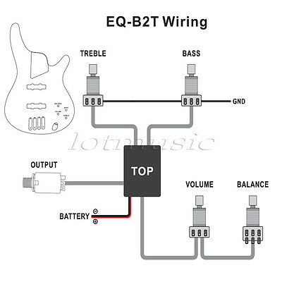 active guitar bass eq preamp circuit tone volume pots wiring harness 2 3 band ebay. Black Bedroom Furniture Sets. Home Design Ideas