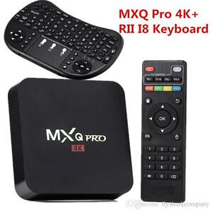 MXQ PRO Smart TV BOX Android with free keyboard Android 6.0