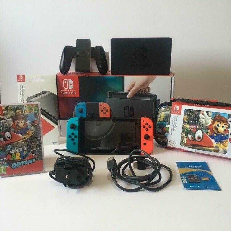 Nintendo Switch Console Super Mario Odyssey 9 Item Bundle Everything You Need In Heathrow London Gumtree