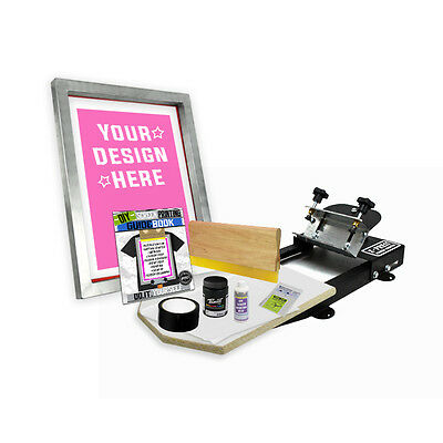 Diy X-press Screen Printing Starter Beginner Kit With Pre-burned Screen 11-1