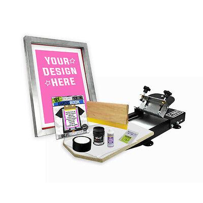 Diy X-press Screen Printing Starter Beginner Kit With Pre-burned Screen 11-1