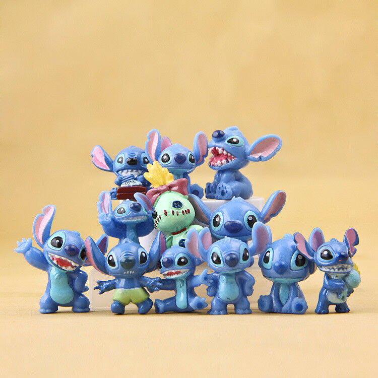 как выглядит 12pcs/Set Disney Lilo Stitch PVC dolls Anime action figure Gifts toys Cake top фото