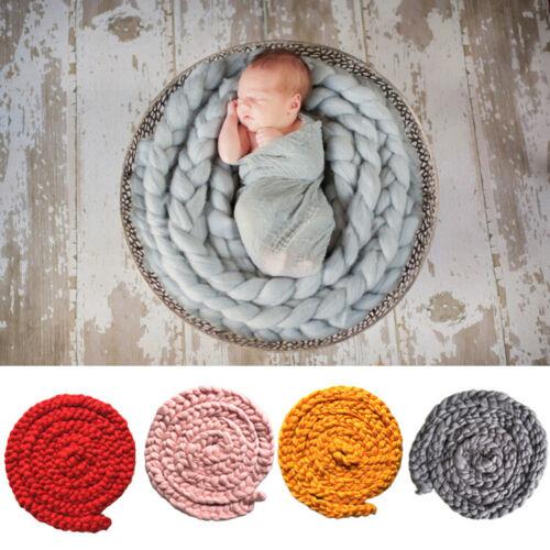 Newborn Photography Props Baby Kids Woven Braid Blanket Mat Photo Studio Shoot