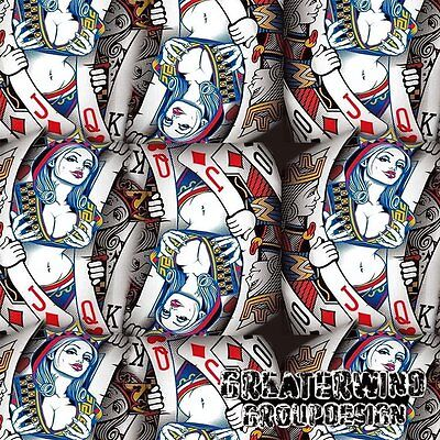 hydrographics Water Transfer Film 50cm x 50cm Playing cards, Free P&P in UK
