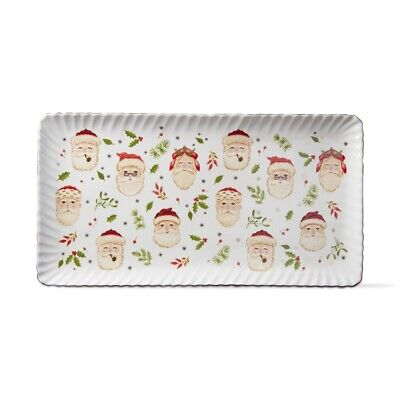 TAG - Holiday - Merry Santa Rectangular Platter - G10455