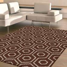 BROWN COLOR-SHAGGY RUG-FLOOR RUG-CARPET-160 X 230CM-RUNNER-(046) Bass Hill Bankstown Area Preview