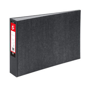 5 Star A3 Landscape Lever Arch File 70mm Spine Cloudy Grey Pack 2