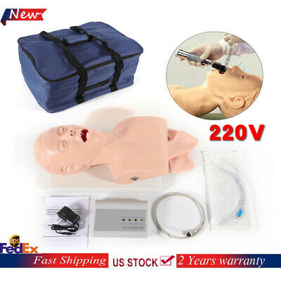Teaching Model Airway Management Trainer Intubation Manikin Study 220v Pvc Sale