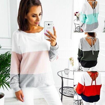 UK Womens Hoodie Long Sleeve Sweatshirt Lady Jumper Sweater Hooded Pullover Top
