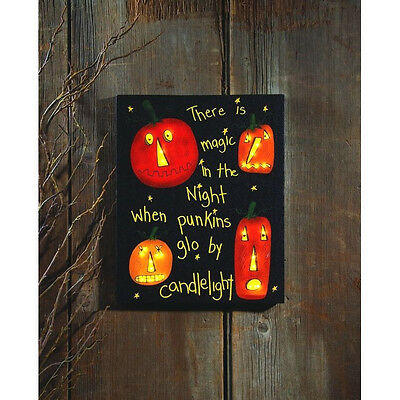 Lighted Halloween Canvas