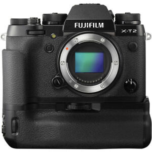 Fuji X-T2, battery grip & RRS L-bracket (lens - listed as extra)