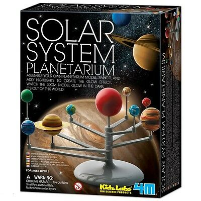 Glow In The Dark Solar System Planetarium Model Kids Science Kit