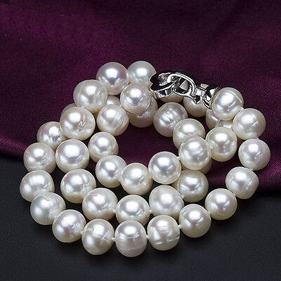 -  Real Pearl Necklace  8~9mm White Freshwater Cultured Pearl Necklace