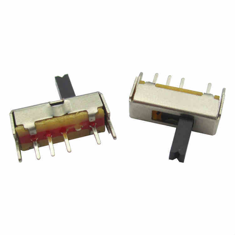 50PCS SS13D07 Slide Switch 1P3T 4Pin W/ Handle 6mm 3 position f DIY Electronic