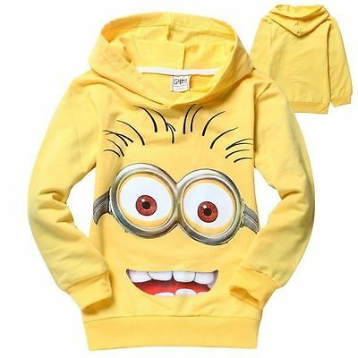 2016 New Cute Costume Despicable Me Minions Kids Boys Girls Hoodies Coat Clothes - Cute Minions Costume