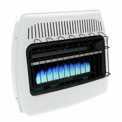 Blue Flame Natural Gas Heater - Indoor Natural Gas Heater Wall Mounted Vent Free 30000 BTU Home blue flame