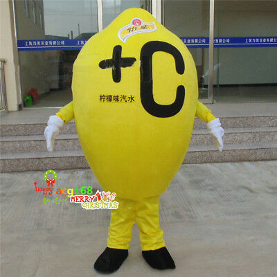 Adult Halloween Drinking Games (Lemon Drink Mascot Costume Suits Cosplay Party Game Outfit Adult Halloween)