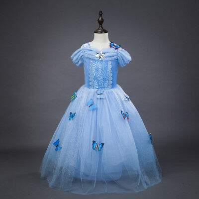 US STOCK Cinderella Disney inspired Dress Princess costume New Child Toddler O70