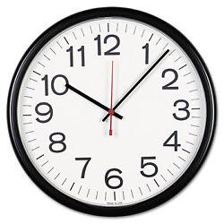 Universal Indoor/Outdoor School Office Analog Industrial 13.5 Black/White Clock