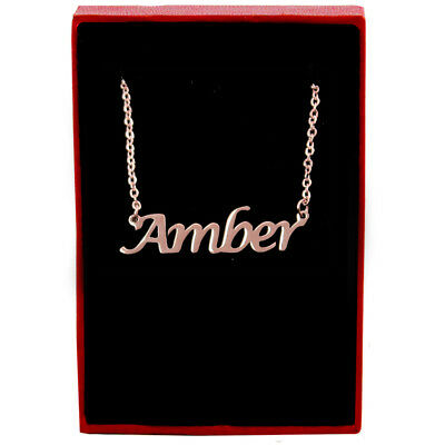 Amber - Rose Gold Name Necklace - Personalized Jewellery - Fashion Womens Gifts