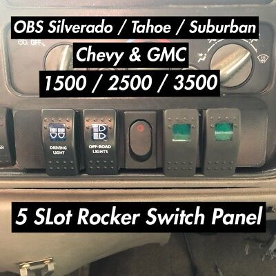 OBS Chevy & GMC 5 Slot Rocker Switch Panel- Trucks & SUVs