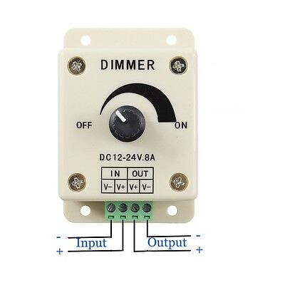 12v 8a Pir Sensor Led Strip Light Switch Dimmer Brightness Controller Power L